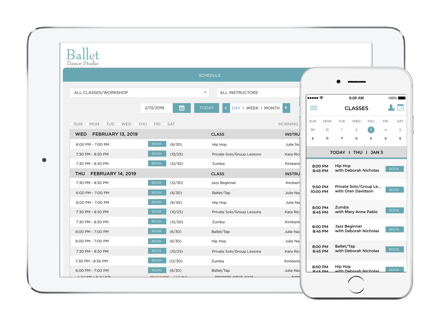 Dance Studio Management Software - Scheduling, Appointments