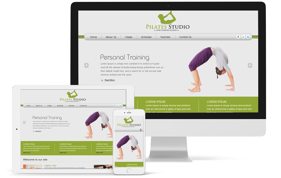 Pilates Website - Responsive Website Design and Web Development