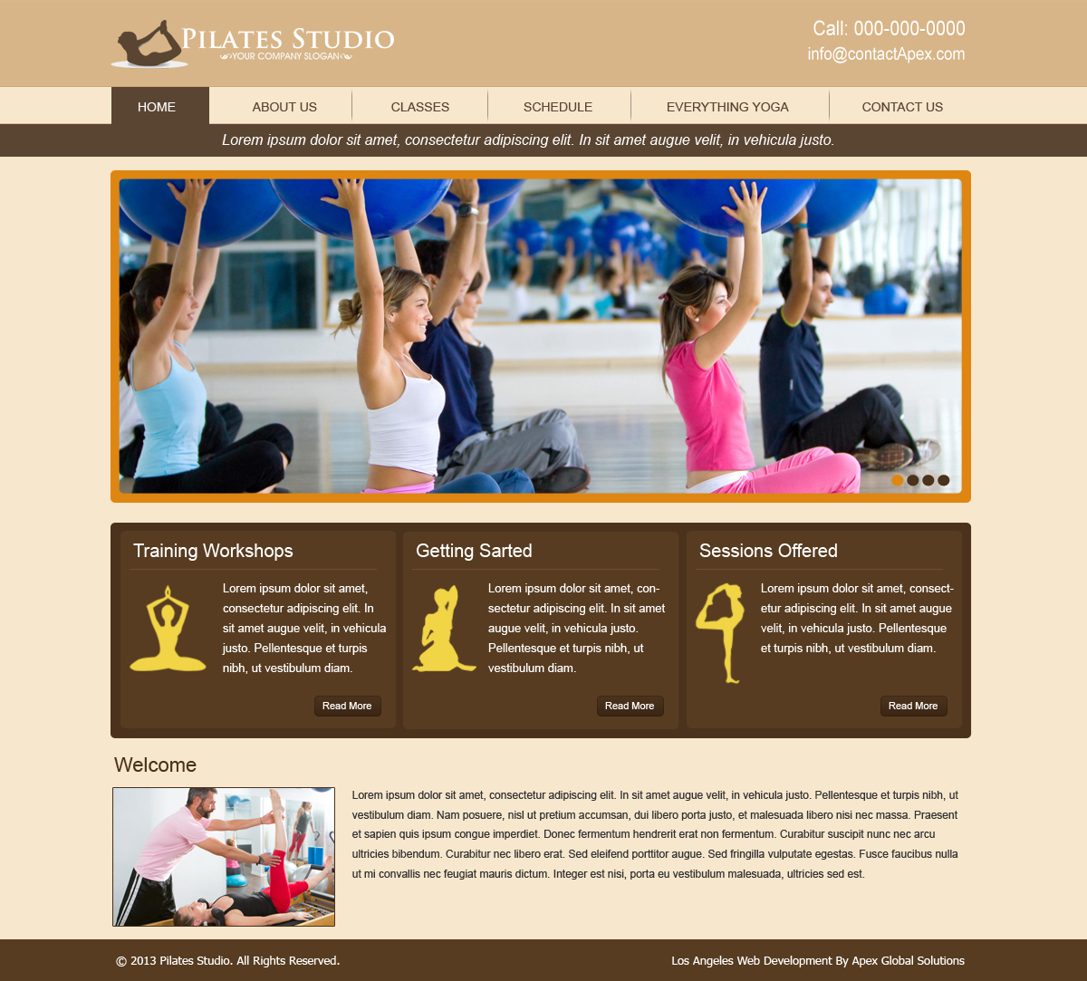 Pilates Studio Website Design | Pilates Web Design and Development