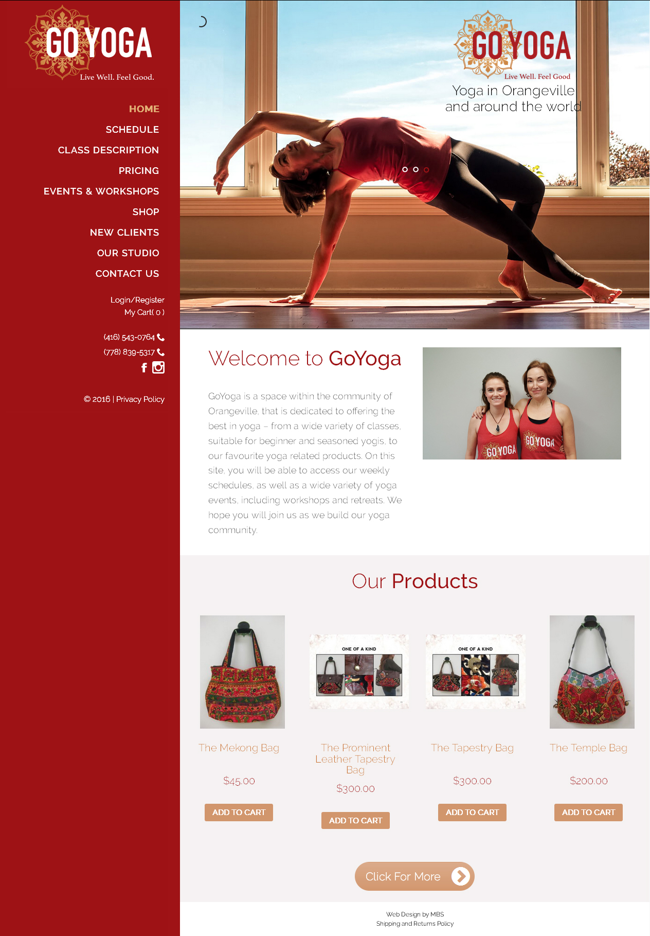 Yoga Studio Website Design | Fitness Web Design | Pilates ...
